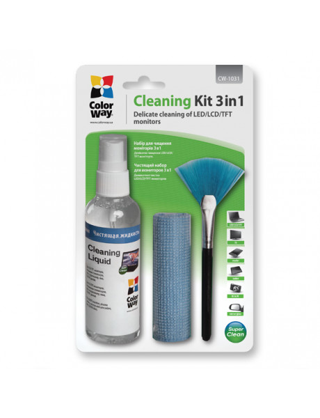 Valiklis ColorWay Cleaning kit 3 in 1, Screen and Monitor Cleaning