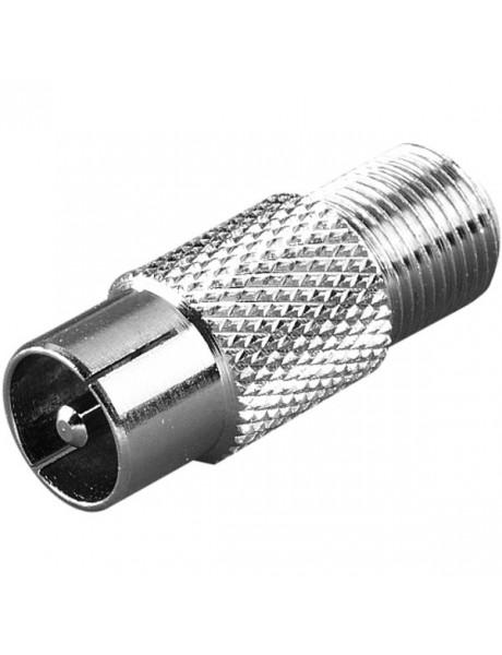 ANTENOS ADAPTERIS Adaptor, 1pc, F-socket-Coax plug