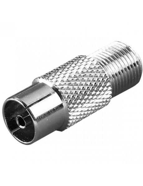 ANTENOS ADAPTERIS Adaptor, 1pc, F-socket to Coax-socket