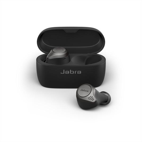 BEVIELĖS AUSINĖS Jabra Elite 75t, in-ear, Titanium Black, bluetooth