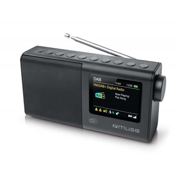 Kolonėlė Muse Portable Radio M-117 DB Portable, Black, FM, DAB/DAB+