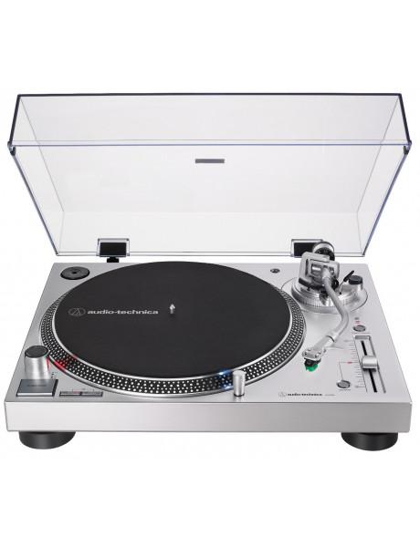 PATEFONAS Audio Technica AT-LP120XUSB Turntable, Direct-Drive (Analog & USB), Silver Audio Technica
