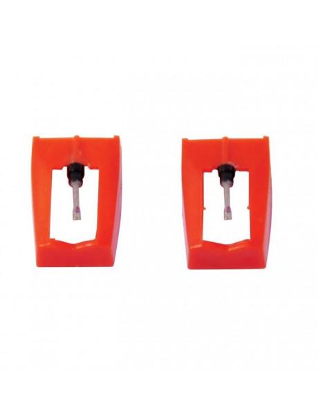 NEEDLES STYLO Twin Pack GPO vinilinių plokštelių grotuvo adatėlių rinkinys