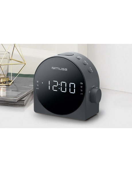 RADIJAS SU ŽADINTUVU Muse Dual Alarm Clock radio PLL M-185CR