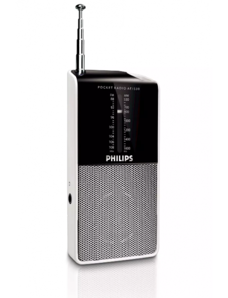 RADIJA Philips Portable Radio AE1530/00 pocket size, FM/MW tuner, Built-in speaker, Headphone jack
