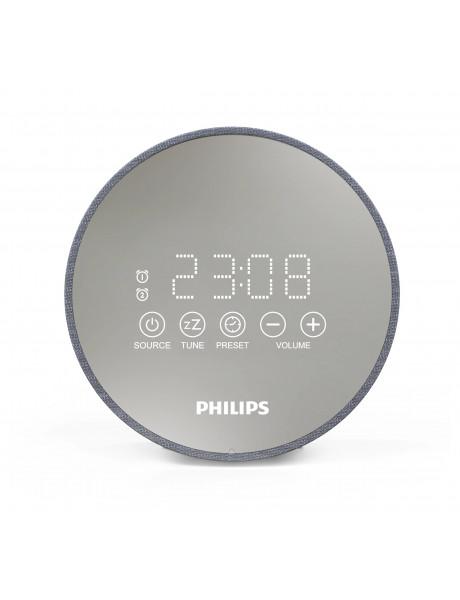 RADIJO ŽADINTUVAS Philips Clock Radio TADR402/12 Gentle wake, Dual alarm function, Night light, USB