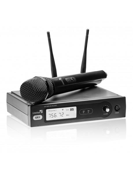 BEVIELIS MIKROFONAS LIVE STAR UX1 komplektas 863.425 MHz