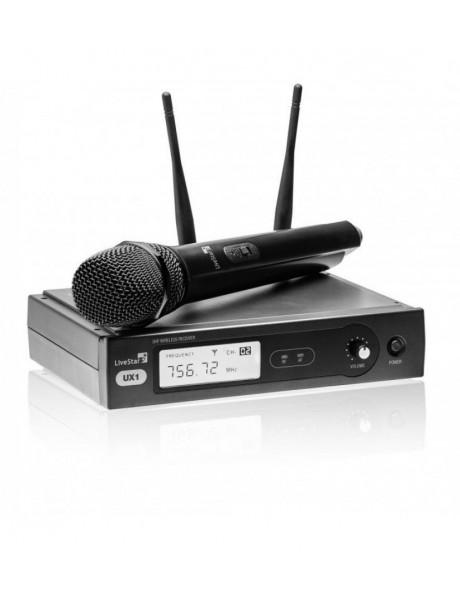 BEVIELIS RADIJO MIKROFONO KOMPLEKTAS LIVE STAR UX1 863.1MHz