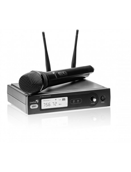 BEVIELIS RADIJO MIKROFONO KOMPLEKTAS LIVE STAR UX1 864.9 MHZ