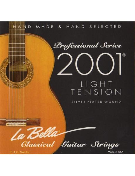 STYGŲ KOMPL. KLAS. GITARAI LA BELLA 2001 LIGHT TENSION