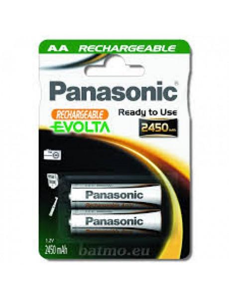 AKUMULIATORIUS PANASONIC EVOLTA HR6 AA 2450mAh 2BC