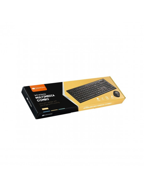 Klaviatūra CANYON CNS-HSETW4-LT Multimedia 2.4GHz wireless combo-set