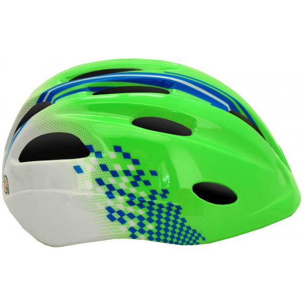 Šalmas Cairn EARTHY Junior green/blue, S 52-56 cm