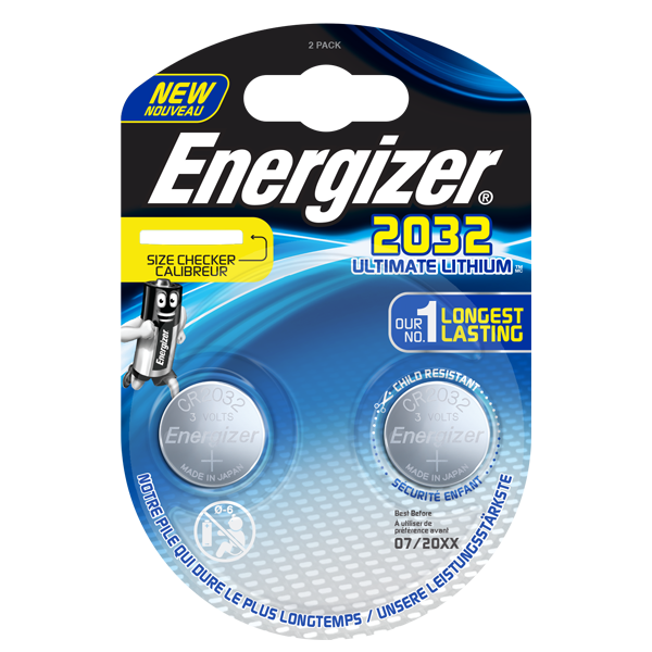 Baterijos ENERGIZER Ultimate Lithium CR 2032 BL2 ličio