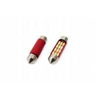 VERTEX71665 LED lemputės CANBUS 12SMD 4014 Festoon 41mm baltos, 12V, komplekte 2vnt