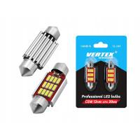 VERTEX71664 LED lemputės CANBUS 12SMD 4014 Festoon 39mm baltos, 12V/24V, komplekte 2vnt