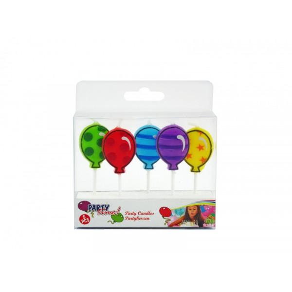 Birthday 2D Ballons EDCO gimtadienio žvakės