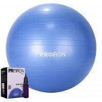 Kamuolys PROIRON Exercise Yoga Ball Balance Ball, Diameter: 55 cm, Thickness: 2 mm, Blue, PVC