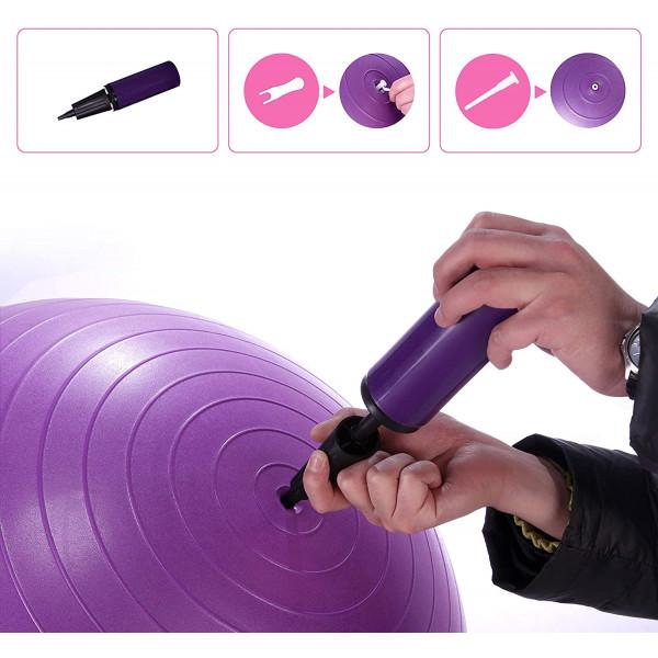 Kamuolys PROIRON Exercise Yoga Ball Balance Ball, Diameter: 65 cm, Thickness: 2 mm, Purple, PVC