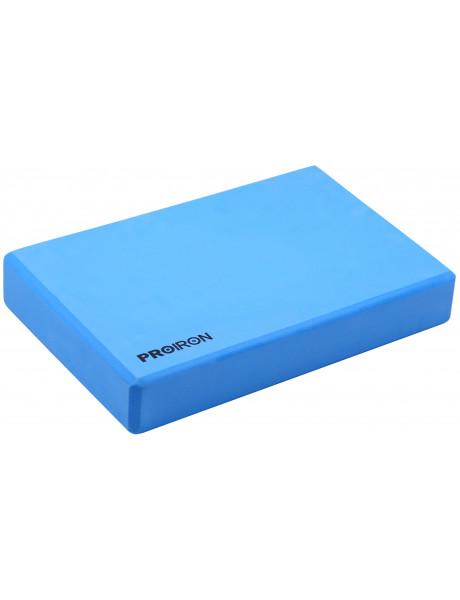 Jogos blokas PROIRON Yoga Block Exercise Brick, 305 x 205 x 50 mm, 1 pc, Blue, High-density EVA foam