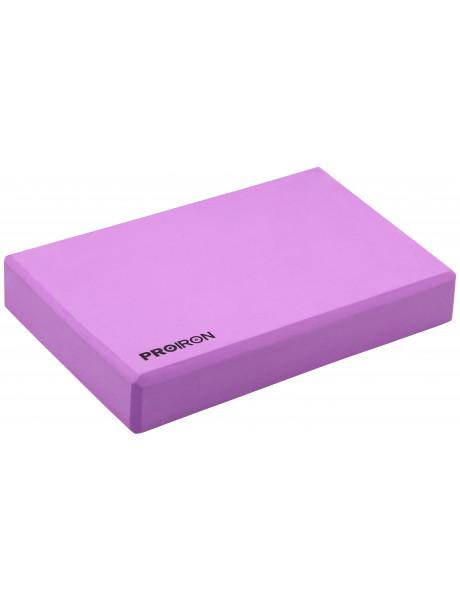 Jogos blokas PROIRON Yoga Block Exercise Brick, 305 x 205 x 50 mm, 1 pc, Purple, High-density EVA fo