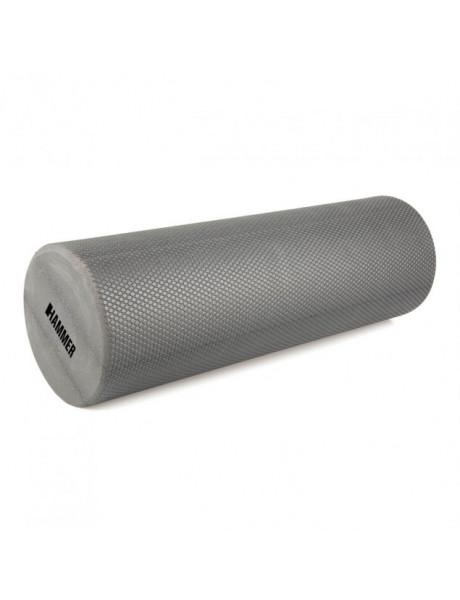 Mankštos cilindras Hammer Fitness Foam Roller 45x15 cm, Grey