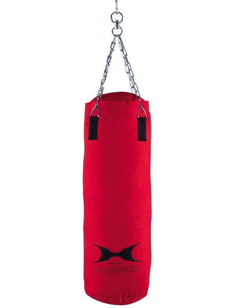 Bokso kriaušė Hammer Punching bag Canvas, 100x30 cm, Red