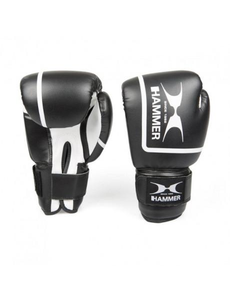 Bokso pirštinės Hammer Boxing gloves Fit II, PU, 8 OZ, Black