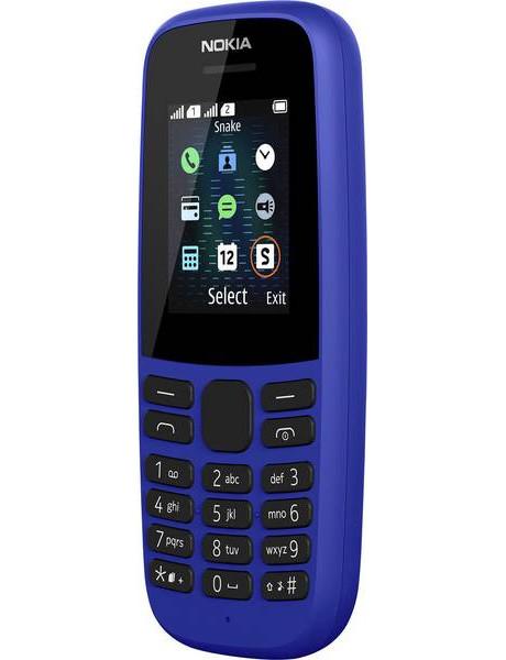 Mobilusis telefonas Nokia 105 (2019) Single SIM TA-1203 Blue TLRPNOK00061BL