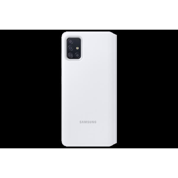 Dėklas Samsung EA515PWE S View Wallet cover forSamsung Galaxy A51 / White EF-EA515PWEGEU