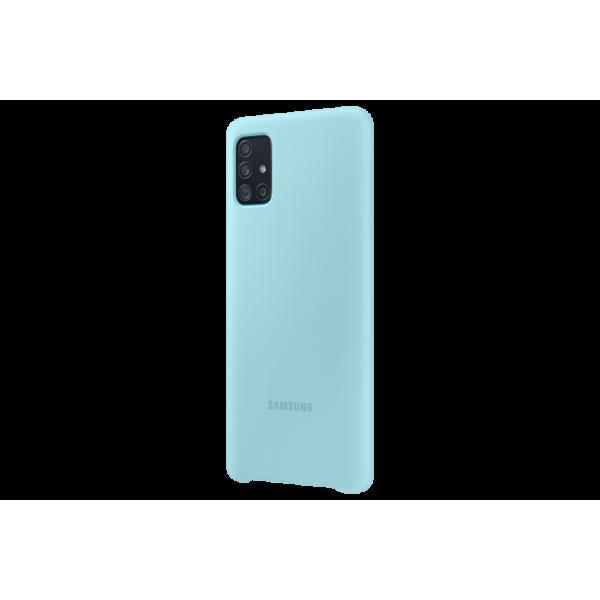 Dėklas Samsung PA515TLE Silicone Cover for Samsung Galaxy A51 / Blue EF-PA515TLEGEU