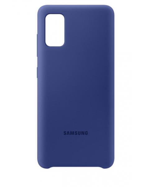 Dėklas Samsung PA415TLE Silicone Cover for Samsung Galaxy A41 / Blue EF-PA415TLEGEU