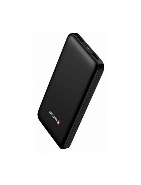 Išorinė baterija Swissten Worx Power Portable Power Bank 2x 2.4? USB / Smart IC / 10000 mAh / Black