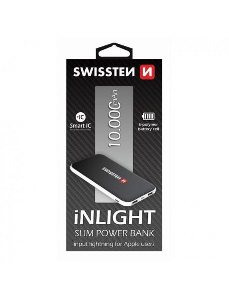 SW-PWB-INL-10000 Swissten išorinė baterija 10000mAh Black