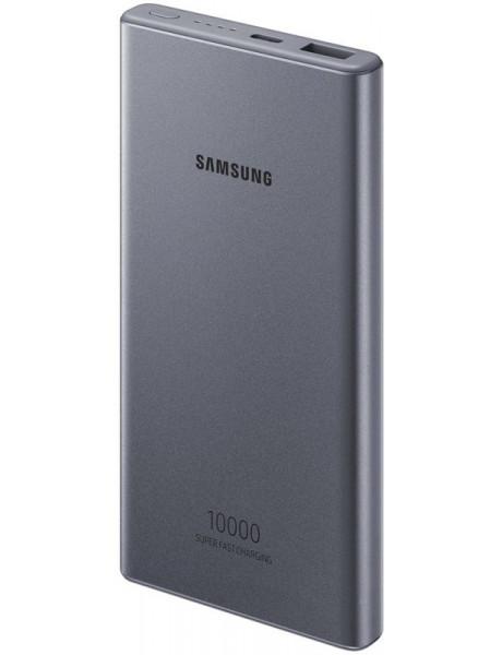 Išorinė baterija Samsung P3300XJ Battery Pack 10 000mAh Type-C, USB A, Super fast charge 25W Dark /