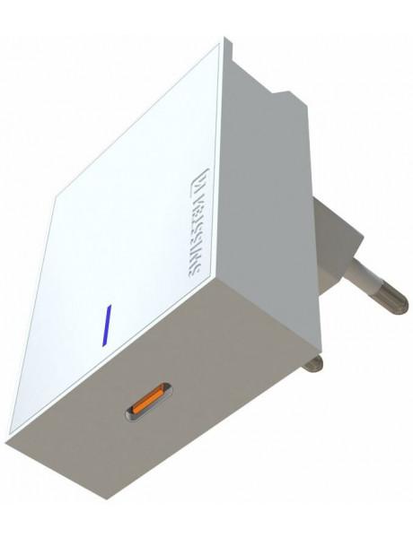 Swissten Premium 45W Travel Charger USB-C PD 3.0: 5V / 3A / 9V / 2A, 12V / 1.5A White