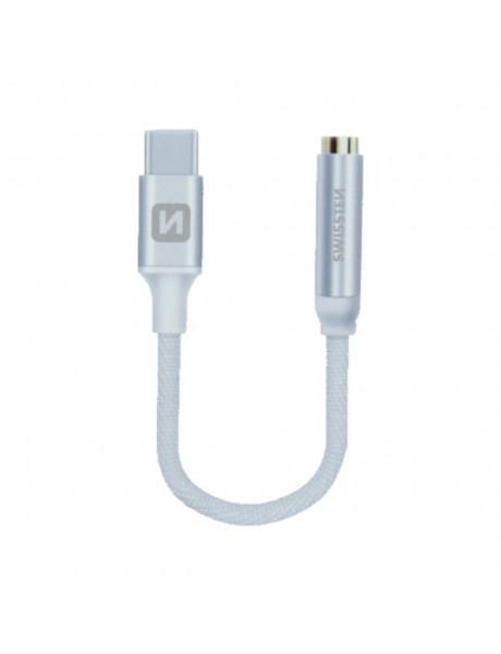 Laidas Swissten USB-C to Jack 3.5mm Audio Adapter for phones 15 cm Silver