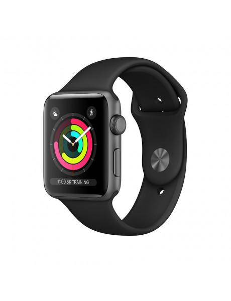 Išmanusis laikrodis Apple Watch Series 3 GPS 42mm Space Grey Aluminium Case with Black Sport Band