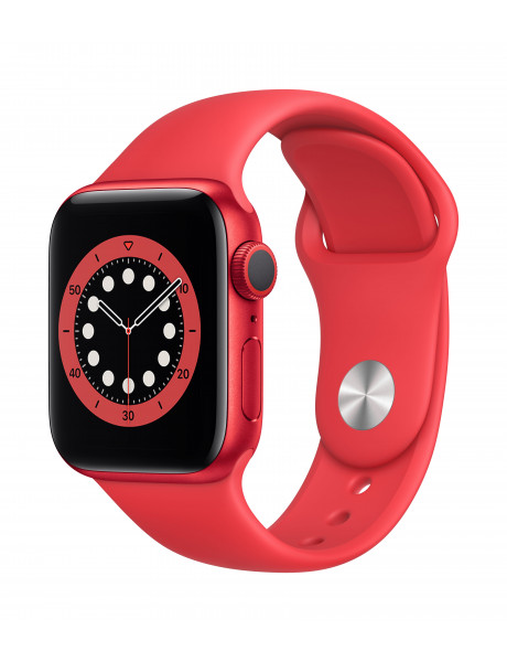 Išmanusis laikrodis Apple Watch Series 6 GPS 40mm PRODUCT(RED) Aluminium Case with PRODUCT(RED) Spor