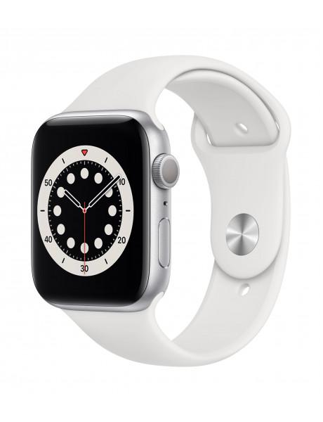 Išmanusis laikrodis Apple Watch Series 6 GPS 44mm Silver Aluminium Case with White Sport Band - Regu