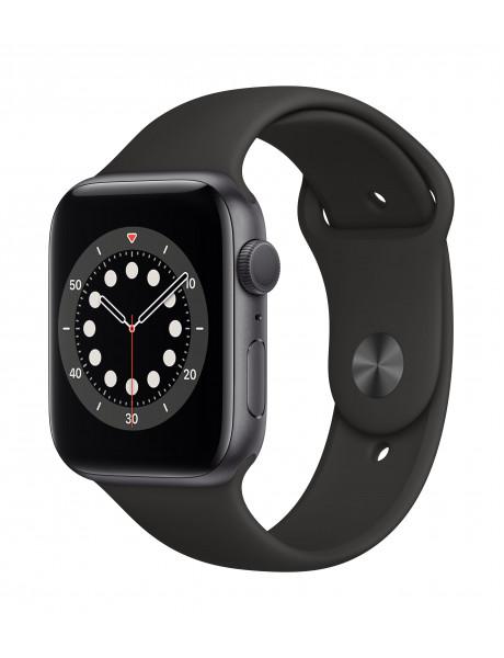 Išmanusis laikrodis Apple Watch Series 6 GPS 44mm Space Gray Aluminium Case with Black Sport Band -