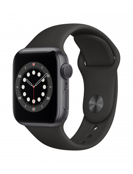 Išmanusis laikrodis Apple Watch Series 6 GPS 40mm Space Gray Aluminium Case with Black Sport Band -