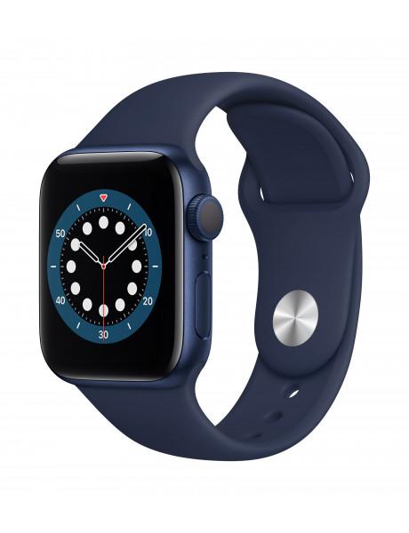Išmanusis laikrodis Apple Watch Series 6 GPS 40mm Blue Aluminium Case with Deep Navy Sport Band - Re