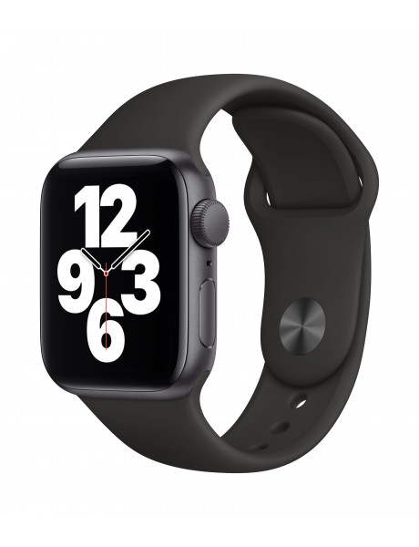 Išmanusis laikrodis Apple Watch SE GPS 40mm Space Gray Aluminium Case with Black Sport Band - Regula