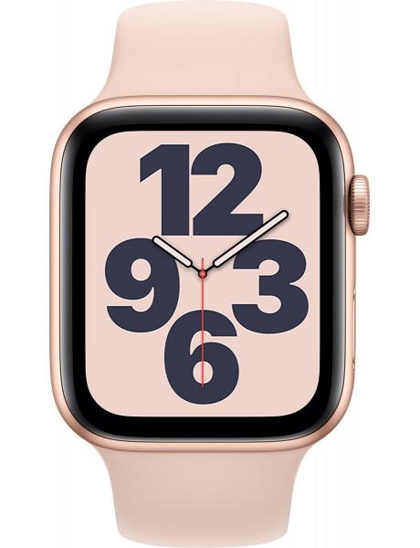 Išmanusis laikrodis Apple Watch SE GPS 44mm Gold Aluminium Case with Pink Sand Sport Band - Regular