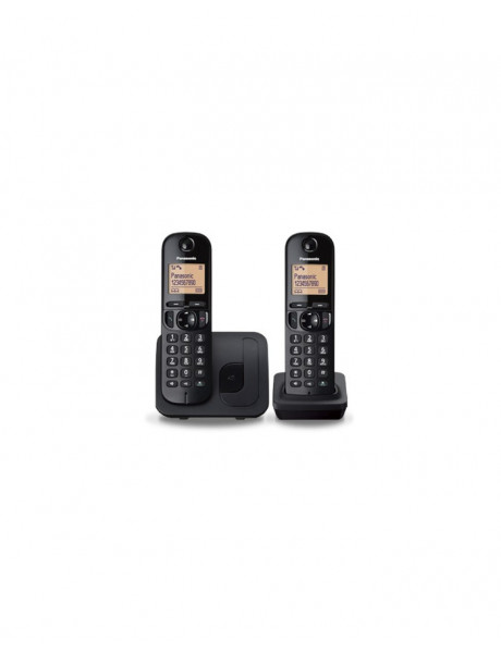 TELEFONAS Panasonic Cordless KX-TGC212FXB Black, Built-in display,Phonebook capacity 50 entries, S