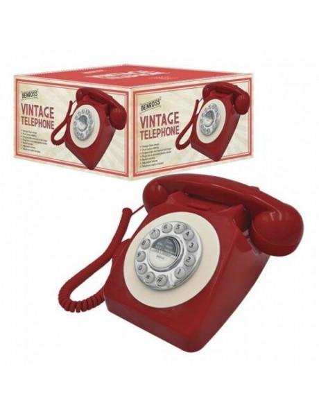 746 PUSH B 1952S Red GPO sieninis telefonas