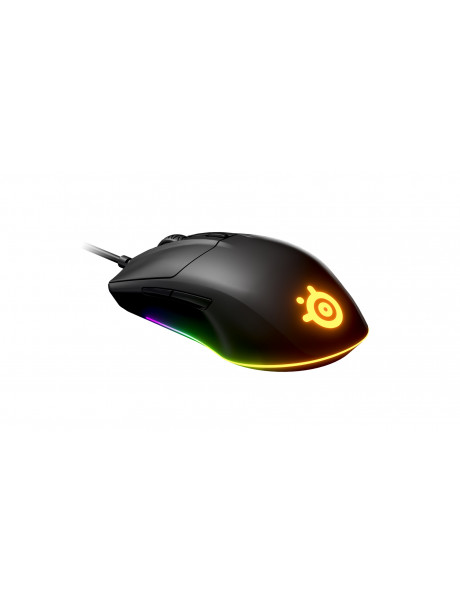 PELĖ SteelSeries Rival 3 Gaming Mouse, Wired, Black