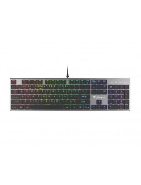 KLAVIATŪRA GENESIS THOR 420 Gaming Keyboard, US Layout, Wired, Silver