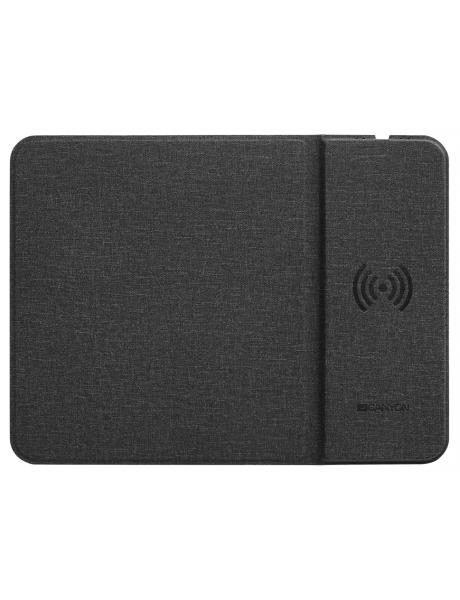 Pelės kilimėlis CANYON Mouse Mat with wireless charger Input 5V/2A 9V2A Out